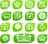Bio icons — Stock Vector