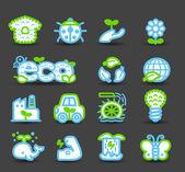 Bio ikony — Stock vektor
