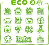 Hand drawn Eco Icon — Stock Vector