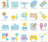Hobby, Leisure and Holiday Icons — 图库矢量图片