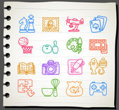 Hobby, Leisure and Holiday Icons — Wektor stockowy