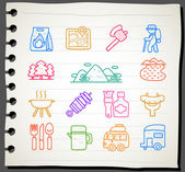 Travel,picnic ,camping icon set — Stok Vektör