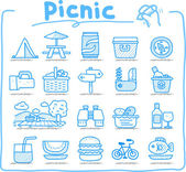 Web Icons,picnic & camping icons, travel & holiday icons — Stock Vector