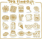 Teatime icons — Stock Vector