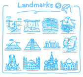 Cute cartoon Landmarks icon — Stock Vector