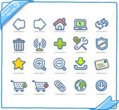 Internet and web icons — Stock Vector