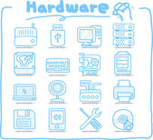 Hardware ,Business,Internet icon set — Stock Vector