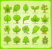 Tree icon set — Stock Vector