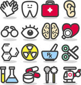 Medical ,Emergency ,health care icons set — Stock Vector