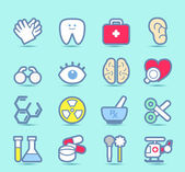 Health care icons set — Stock Vector
