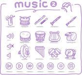 手工绘制的乐器 — 图库矢量图片