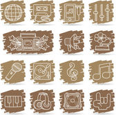 Music icon set — Stock Vector