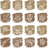 Pirate icon set — Stock Vector