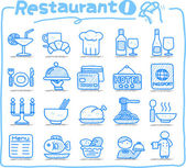 Restaurant Icon set — Stock Vector