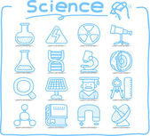 Science icon set — Stock Vector