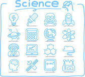 Hand drawn Science icon set — Stock Vector