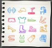 Sport,fitness icon set — Vector de stock
