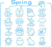 Spring,Season icon set — Stock Vector