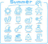 Summer , Season icon set — Stock Vector