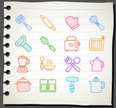 Working tools icon set — Stok Vektör