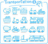 Hand drawn transportation icon — Stock Vector
