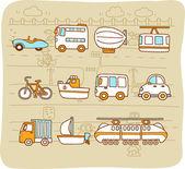Cars,transportati on, automobile, icon set — Vector de stock