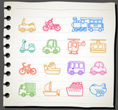 Car,transportation, vehicle icon set — Stockvector