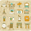 Stock Vector: Travel,landmarks icon set