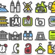 Travel,landmarks icon set — Stock Vector #40870093