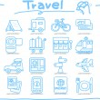 Stock Vector: Vacation, Travel icon set