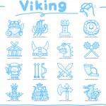 Viking Pirate icon set — Stock Vector #40870349