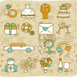 Wedding,love icons — Stock Vector #40870445