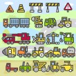 Car , Vehicles ,machines icon set — Stock Vector