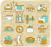 Travel,landmarks icon set — Stock Vector