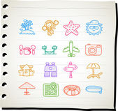 Travel,beach icon set — ストックベクタ