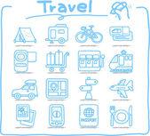 Vacation, Travel icon set — Stock Vector