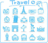 Travel icon, vacation, trip — Stock Vector