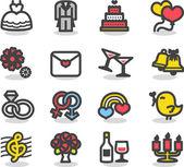 Wedding ,love icon set — Vetor de Stock