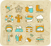 Winter ,weather icon set — Stock Vector