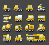 Transportation and Construction machineicon icon set — Stock Vector