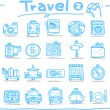 Travel icons, vacation, trip — Stock Vector