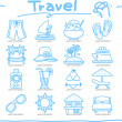 Vacation, travel icons set — Stock Vector #42513791