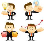 Businessman set — Stock Vector