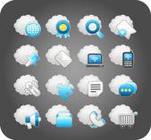 Business,cloud computing,network — Stock Vector