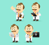 Doctor with tablet PC set — Stock Vector