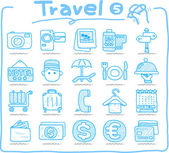 Hand drawn travel icons — Wektor stockowy