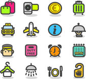 Travel icons — Wektor stockowy