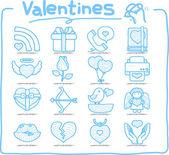 Hand drawn valentine's Day — Stock Vector
