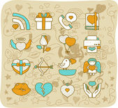 Wedding icon set — Stock Vector