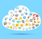 Cloud and weather icons — Stockvektor